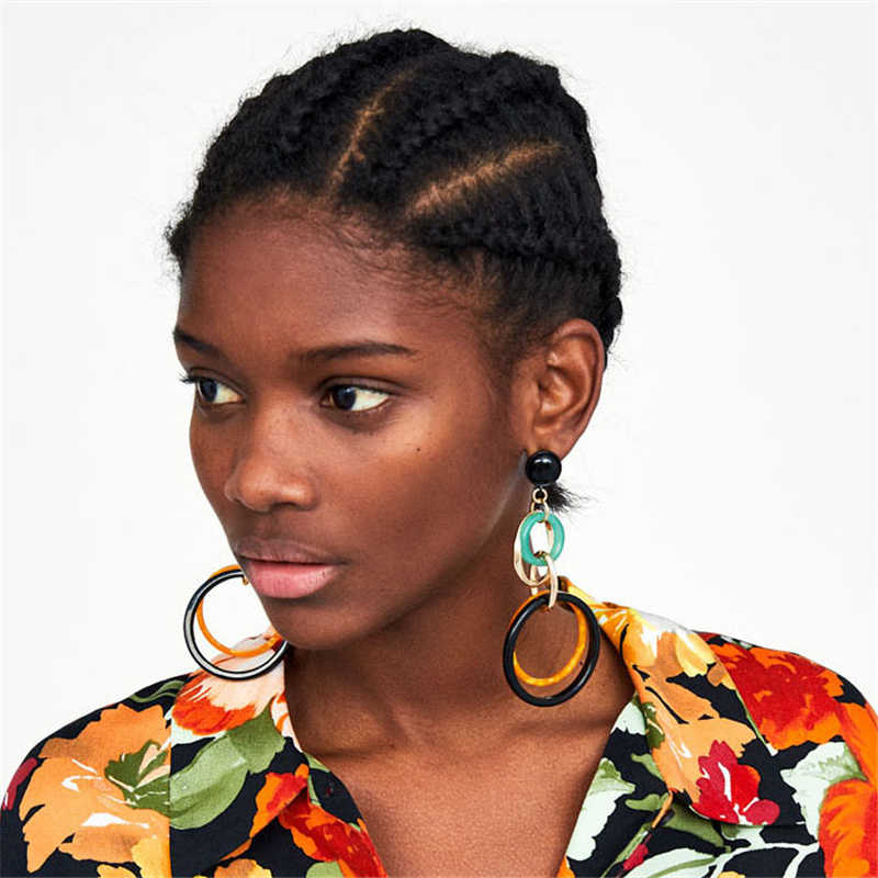 AYAYOO Fashion Woman Earrings 2019 Za Drop Long Earring Female Wedding Party Big Girls Christmas Earrings Hanging Jewelry