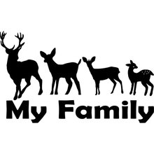 16CM*9.6CM Family Hunting Deer Buck Baby Fawn Vinyl Decal Car Stickers Auto Accessories Styling