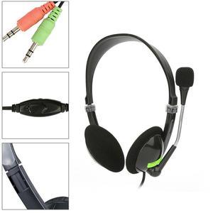 Image 2 - コンピュータ有線ヘッドセットとマイクセンターサポートゲーム音声聴覚音楽ステレオ 3d サウンド 3.5 ミリメートルインターフェースヘッドホン