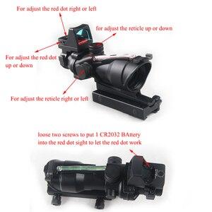 Image 3 - Szybka dostawa usługi prawdziwe zielone czerwone włókno ACOG 4X32 z RMR czerwona kropka z oznaczeniami do strzelania Tactical Hunting Rifle Scope