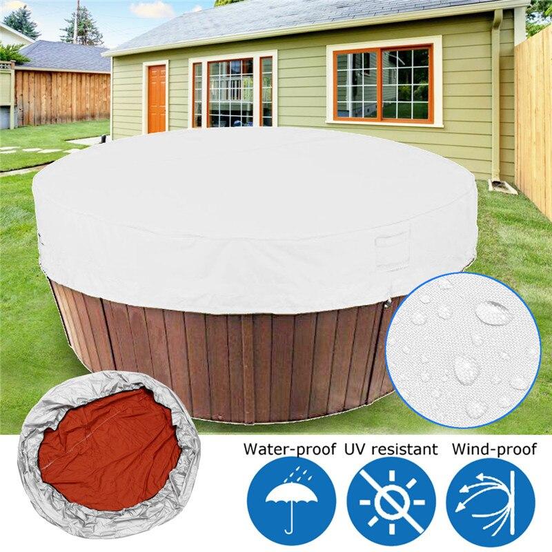 Couverture de baignoire gris clair couverture de bain à remous temps couvre baignoire ombre couverture de poussière protection UV étanche Spa couvre 4 tailles