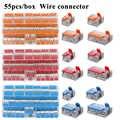 Juego de conectores de cable universal compacto bloque de terminales conector de cable de iluminación para conector rápido híbrido de interior