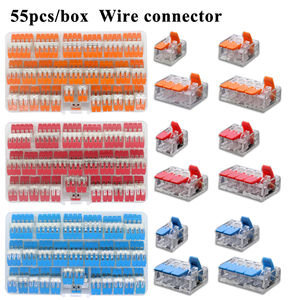 75PCS Universal Wire Connector Terminal Block Home Lighting Indoor Hybrid