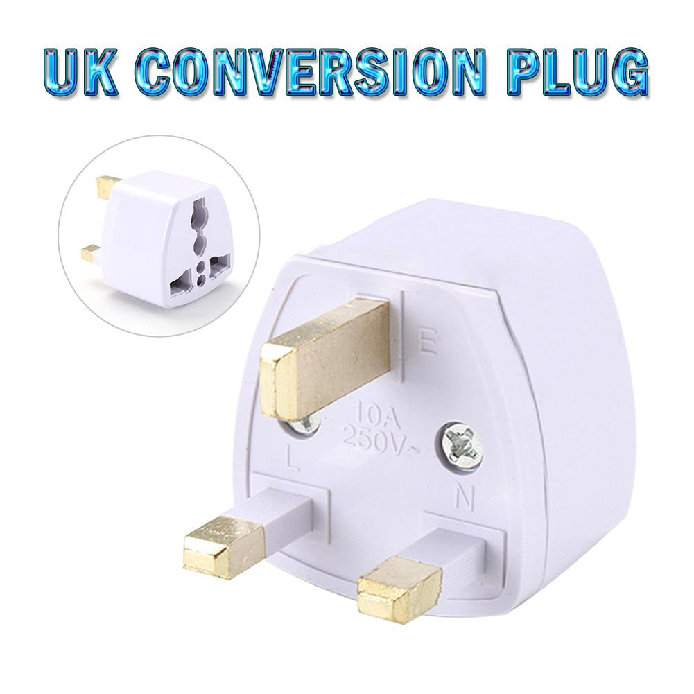 UK Conversion Plug Adaptor With Security Door AC Power Adapter Mobile Phone Travel Wall Charge Power Adapter