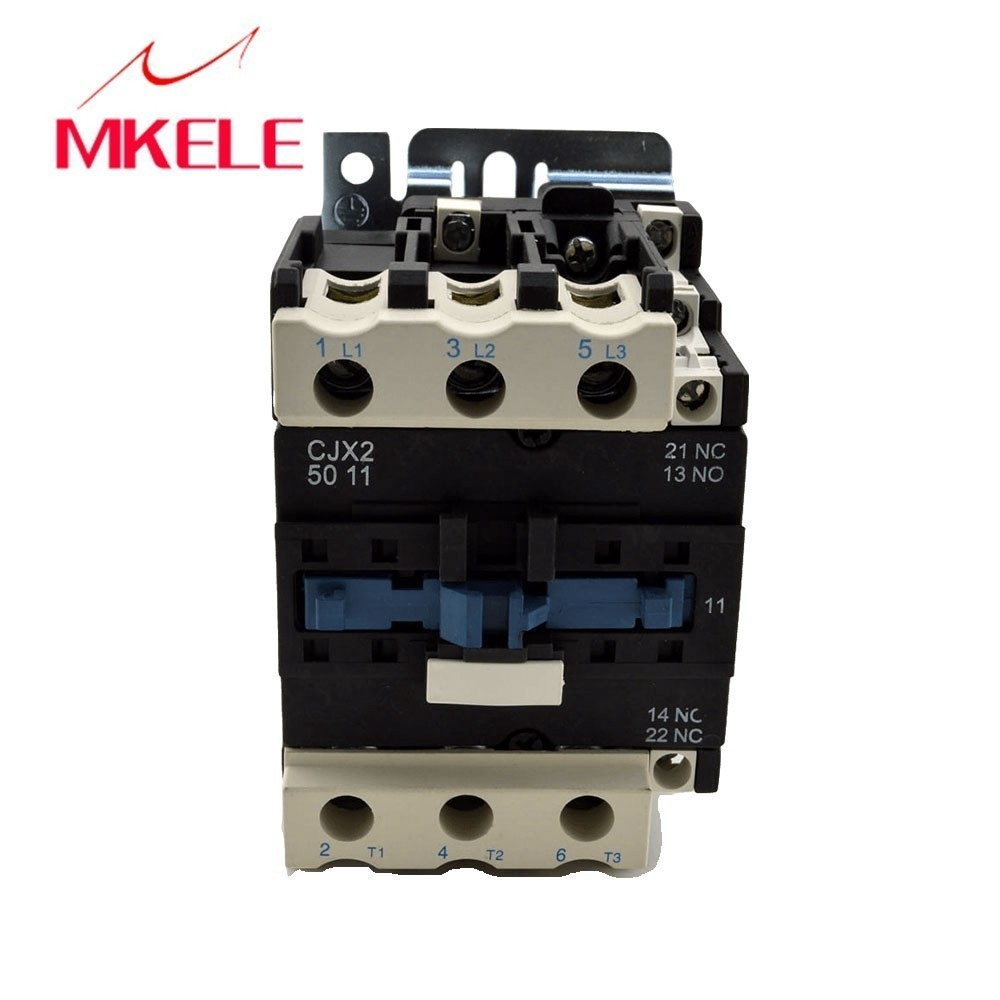 CJX2-5011 3P+NO+NC 50A rated 220v coil voltage three phase contactor telemecanique with CE approved