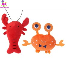 Soft Plush Dog Toys Cartoon Lobster Crab Squeaky Interactive Pet Puppy For Small Medium Dogs Honden Knuffel