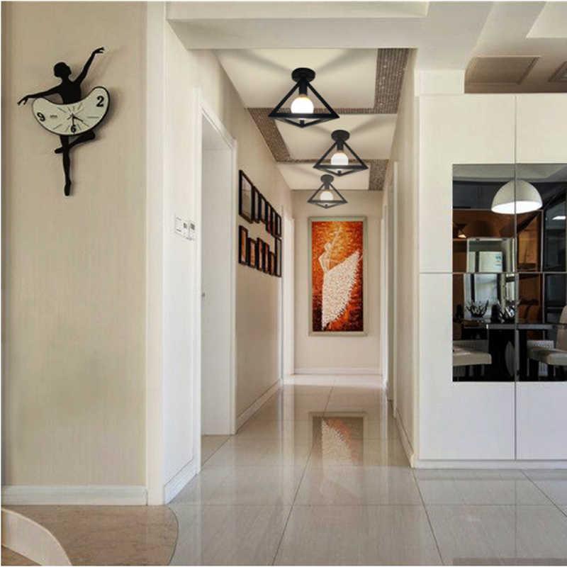Винтажный Черный Стальной потолочный светильник современный промышленный подвесной кухонный светильник потолочный светильник освещение в лофте приспособление для коридора балкона