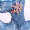 2019 акриловые серьги в виде цветов Boho модные для женщин Висячие большие серьги для свадебной вечеринки геометрические ювелирные изделия массивные серьги - фото
