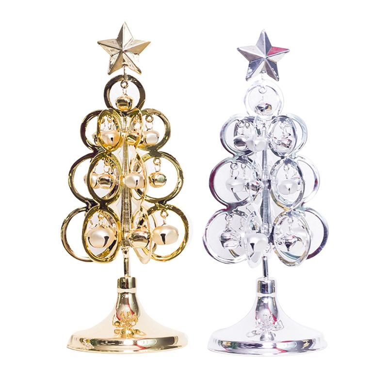 Metal Tabletop Christmas Tree: New Christmas Decorations Metal Christmas Tree Bells
