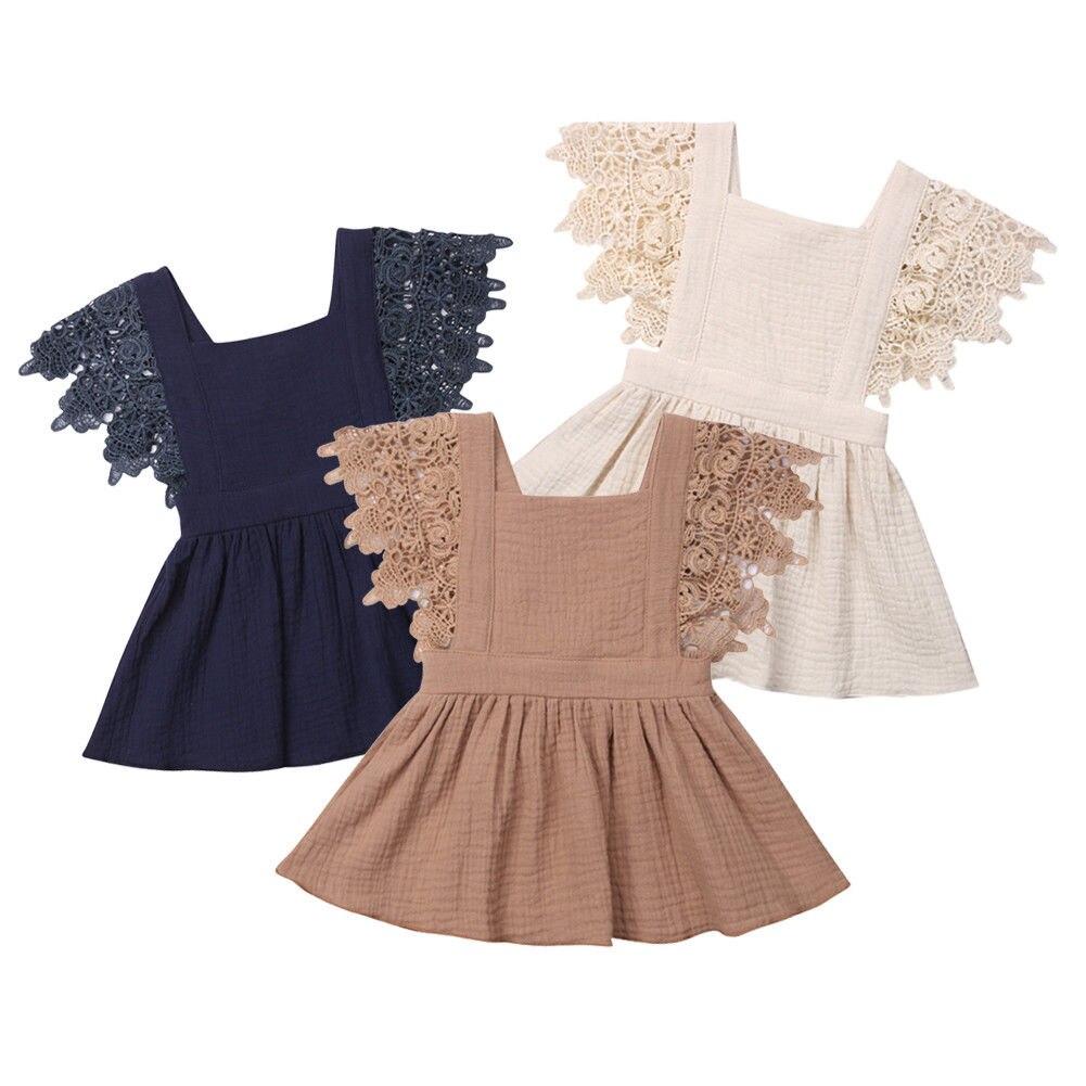 0-3 T Baby Häkeln Blume Kleid Kinder Mädchen Kleinkind Babys Prinzessin Party Casual Tutu Kleider Kleidung Sommerkleid