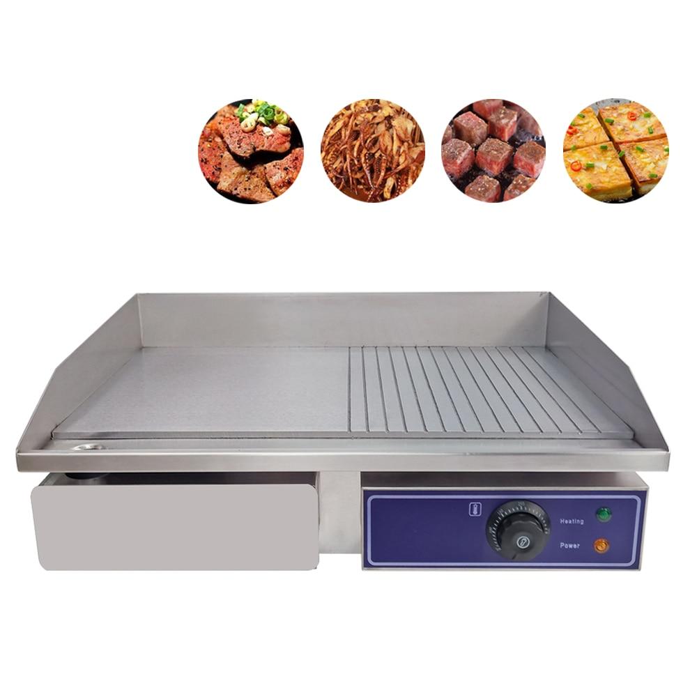 Plaque chauffante électrique de haute qualité plaque chauffante plate demi-plaque plate et plaque à rainure avec CE approuvé pour barbecue de cuisine