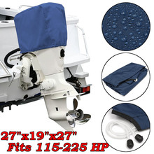 Universal Blue 300D Boat Outboard Motor Engine Protector Cover Fits for 115-225/HP Waterproof