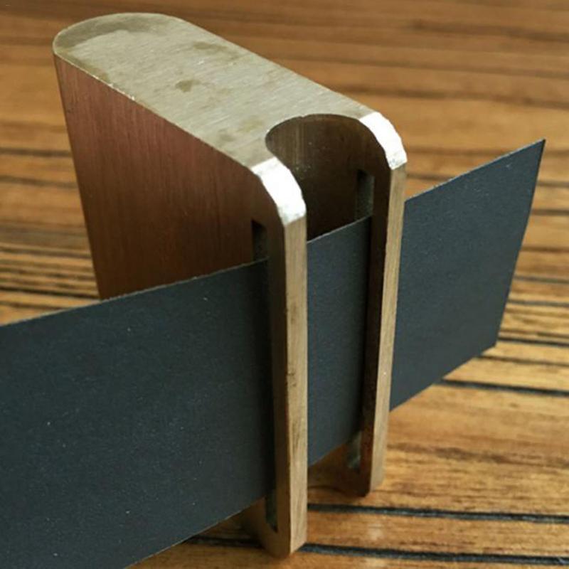 1 PC Copper Thick Leather Craft Belt Saddle Edge Grind Burnish Polish Tool Gold Leathercraft Polished Finish Press Edge Tool DIY