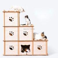 1 шт. гофрированный DIY креативный мульти деформация кошка альпинистская рамка кошка царапина доска кошка коготь игрушки