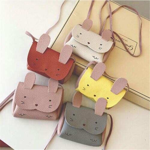 Baby Kid Girls PU Leather Shoulder Bag Messenger Handbag Crossbody Purse US