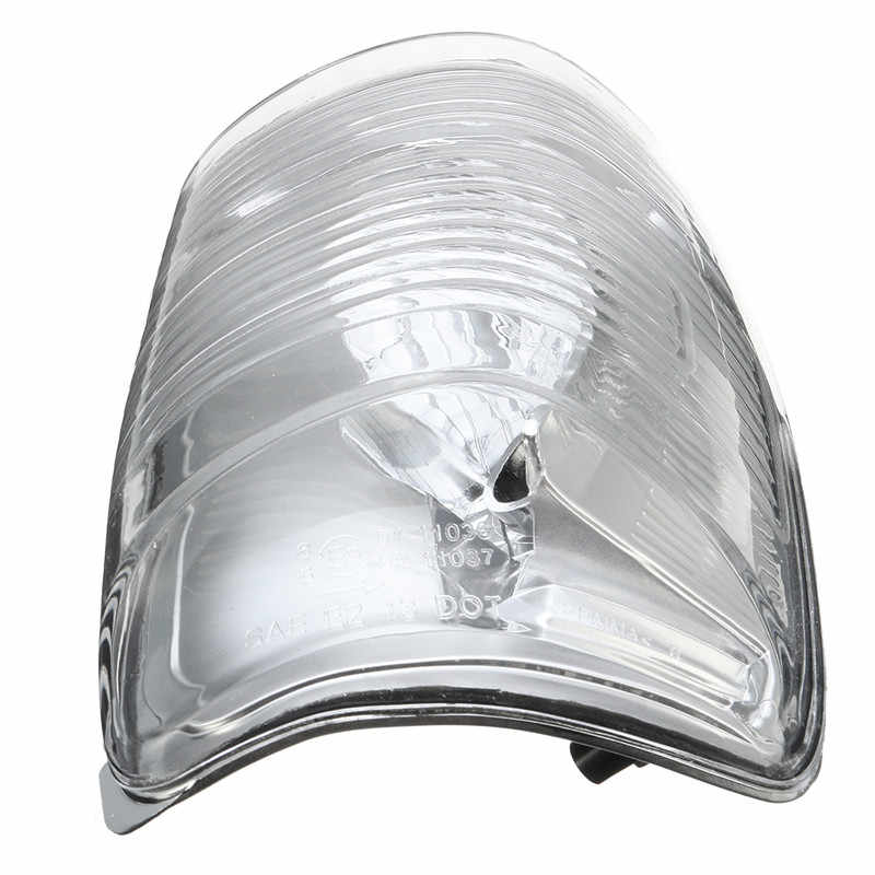Nrpfell 1Pair Right and Left Side Door Wing Mirror Clear Indicator Lens for Transit Mk8 2014-Onwards