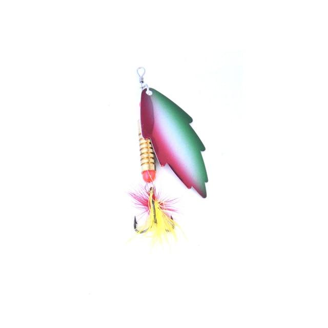 OLOEY 5 7g Câu Cá Thìa Mồi Kim Loại Màu Bạc Mồi Con Quay SpoonFishing Dụ Mồi Kim Sa Lấp Lánh với Lông Vũ Bass treble