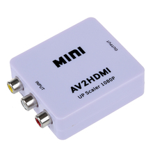 mini AV CVBS Composite Video to HDMI Converter scaled up 1080P