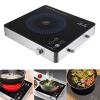 Kitchen Electric Induction Cooker Cooktop Kitchen Burner Portable Home Countertop Cooker Appliance Cooking Tools 2200W 220V