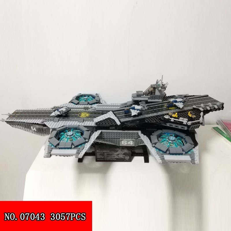 Lepin Block 3057pcs Highest Aegis Aircraft Carrier Military Spelling Assembling Building Block Alpinia Oxyphylla Toys New 07043 lepin highest hero series 07044 madhouse assembling spelling insert building block alpinia oxyphylla grain childre toys 1685pcs