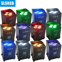 12pcs/lot 4pcs x 12w 6in1 rgbwa uv wifi battery lighting par Cube par app wifi control 4x18w RGBWA UV 6in1 wireless uplight led