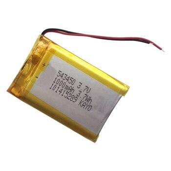 Bateria recarregável do li-íon da bateria 3.7 1000 503450 543450 do lítio do polímero de 523450 v mah para o telefone esperto dvd mp3 mp4 conduziu a lâmpada