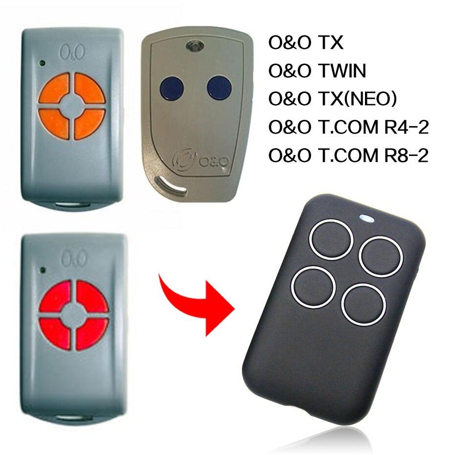 Frank O&0 Tx(neo) Twin T.com R4-2 R8-2 Remote Control Universal Gate Garage Remote Control O&o Remotes Duplicator 433.92mhz Jade White