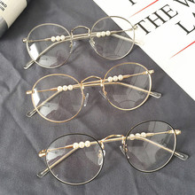 efedefd71b2 Anewish fashion pearls eyeglasses frame clear glasses women round face  spectacle retro vintage myopia glasses oculos