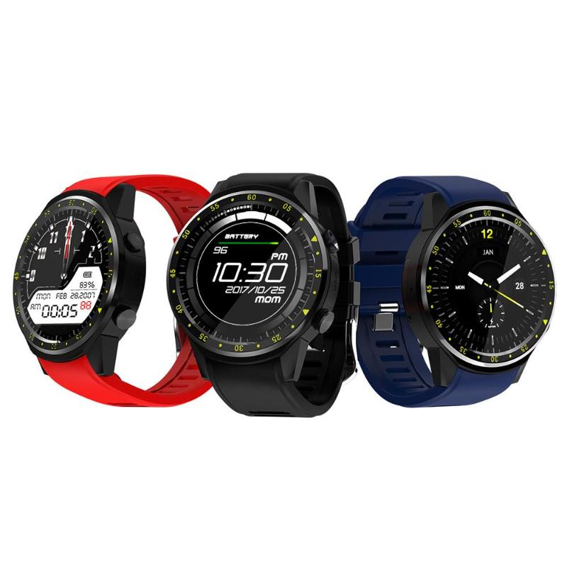 F1 Sport Smart Watch IP67 Waterproof Bluetooth 4.0 GPS Tracker Locator Heart Rate Altitude Temperature Monitor Smartwatch Phone