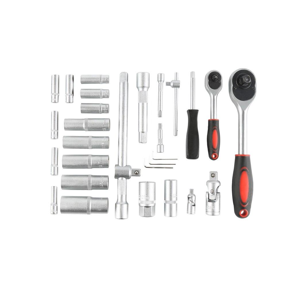 Гаечный ключ набор инструментов 61 шт. набор инструментов для дома набор инструментов для ремонта дома с мультиметром припой железный бытов... - 2