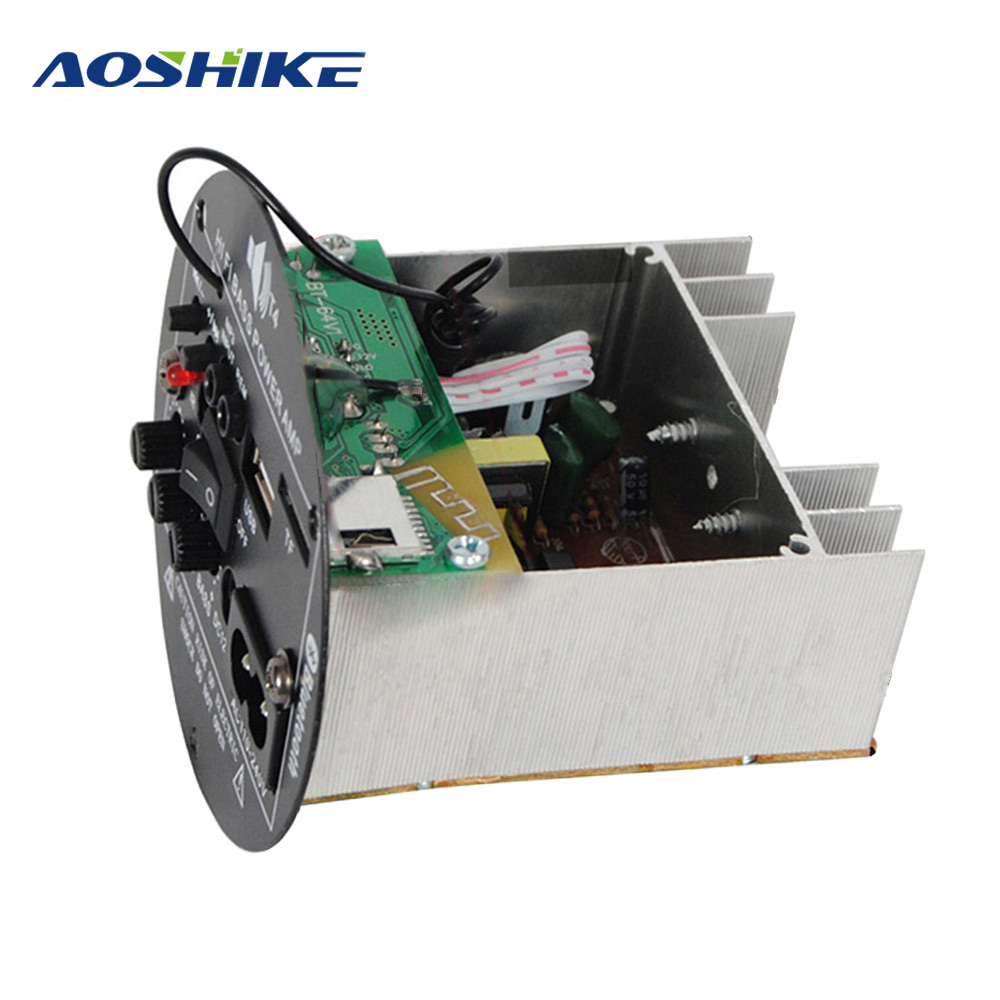 AOSHIKE 30W Bluetooth Car Amplifier Board 12V 220V Mono Subwoofer Amplifier Support TF USB FM For 5-10inch Bass Speaker DIY