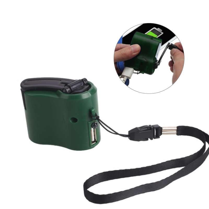 Hand Crank Power Dynamo USB Charger Outdoor Emergency Portable Hand Crank Low Power Universal Charger in Mobile Phone Chargers from Cellphones Telecommunications