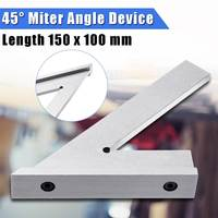 Stainless Steel 45 Degree Miter Angle Corner Ruler Wide Base Gauge Measuring Tools With Stop DIN875/2 Standard 150x100mm