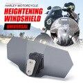 Unversal CNC алюминиевый мотоцикл Регулируемый зажим лобовое стекло расширение спойлер ветровое стекло экран дефлектор спойлер Ветер Дефлектор