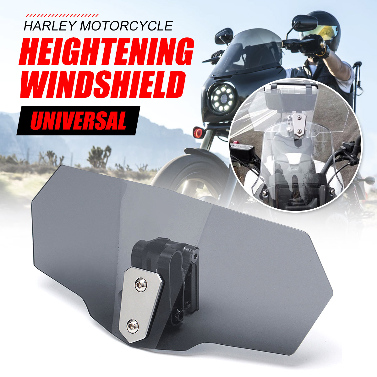 Unversal CNC Aluminum Motorcycle Adjustable Clip windshield Extension Spoiler Windscreen Screen Deflector Spoiler wind deflectorUnversal CNC Aluminum Motorcycle Adjustable Clip windshield Extension Spoiler Windscreen Screen Deflector Spoiler wind deflector