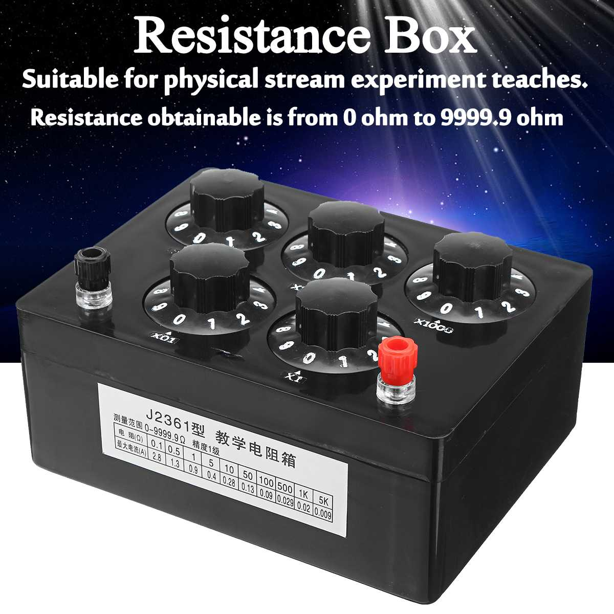 0-9999 Ohm Precision Variable Decade Resistance Resistor Box For Physical Electricity Teaching Instrument Physical Laboratory