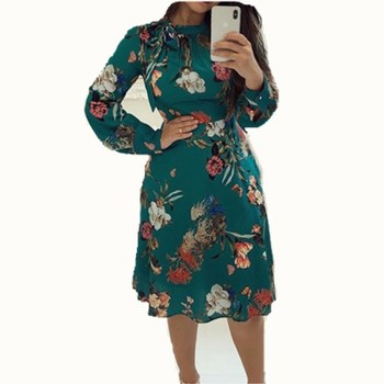 Women's  Chiffon Long Sleeve Dress  2