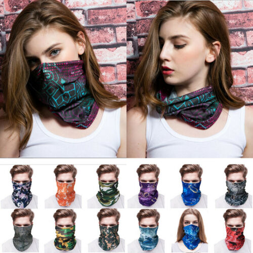 Unisex Cycling Bicycle Outdoor Sport Head Shawl Scarf Magic Headband Face Mask Hairband Multifunction,