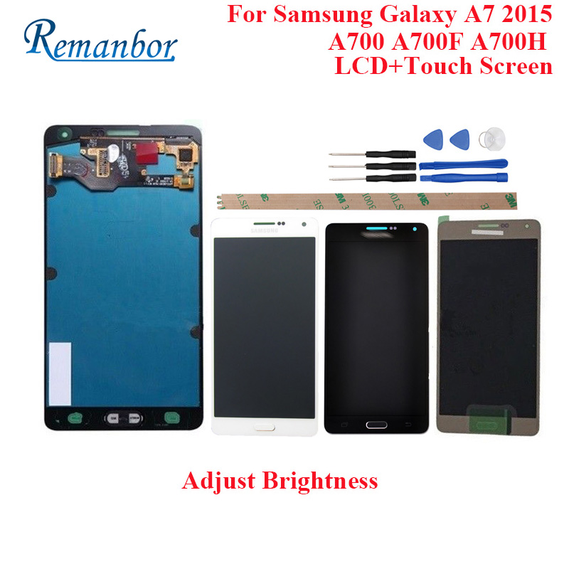 Remanbor For Samsung Galaxy A7 2015 A700 A700F A700H LCD Display And Touch Screen Perfect Repair Parts Digital Accessory +ToolsRemanbor For Samsung Galaxy A7 2015 A700 A700F A700H LCD Display And Touch Screen Perfect Repair Parts Digital Accessory +Tools