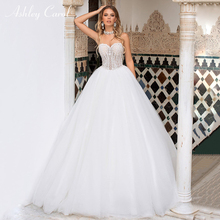 Ashley Carol Backless A-Line Wedding Dress 2019 Sweep Train