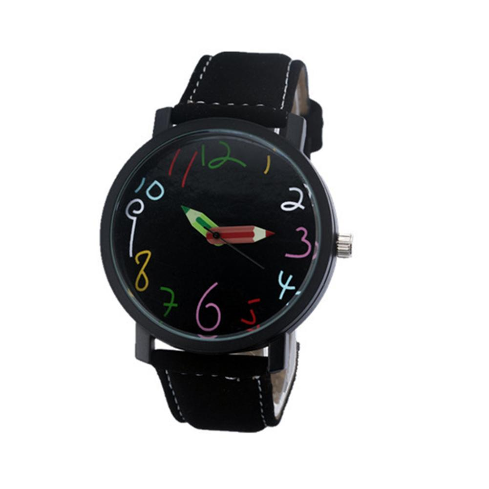 Wholesale Couple Lover Vogue Band Wrist Watches Pencil Head Quartz Pointer Clock Students Gift Couple Watch Montre Homme