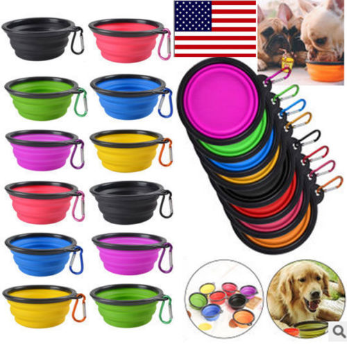 Portable Dog Pet Travel Collapsible Food Water Bowls Pets: Large Feeding Bowl Food Water For Pet Dog Portable