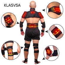 KLASVSA Magnetic Tourmaline Belt Back Neck Lumbar Shoulder S