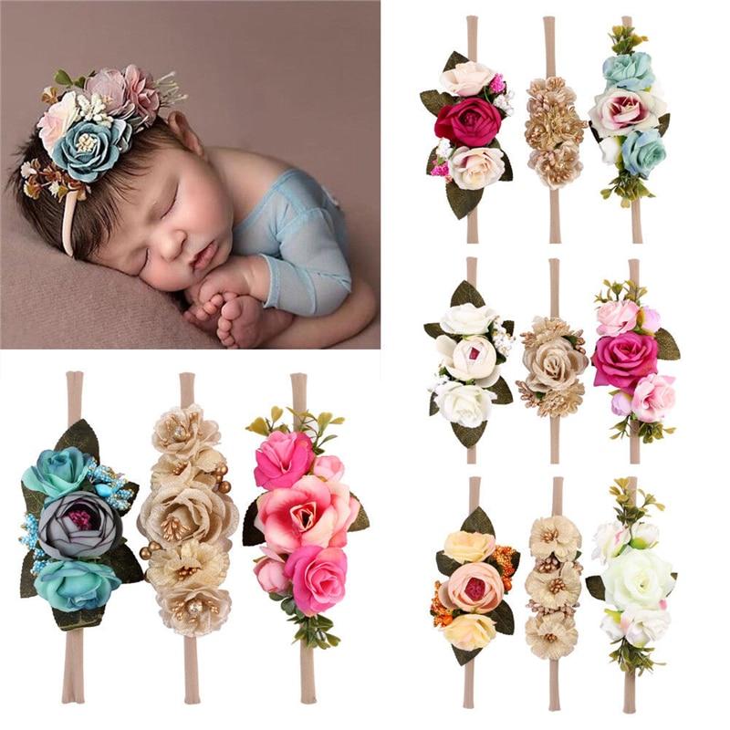 Flower Elastic Headbands girl hair accessories headband