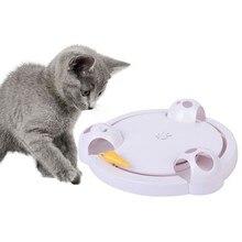 Модная интерактивная игрушка для кошек, забавная кошка, автоматическая вращающаяся игрушка для кошек, игрушка для ловли мышей, электрическая игрушка для игры