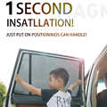 For Velar Range Rover Sport/Range Rover Vogue/Freelander 2 Car Curtain Black Car Side Window SunShades Mesh Shade Blind