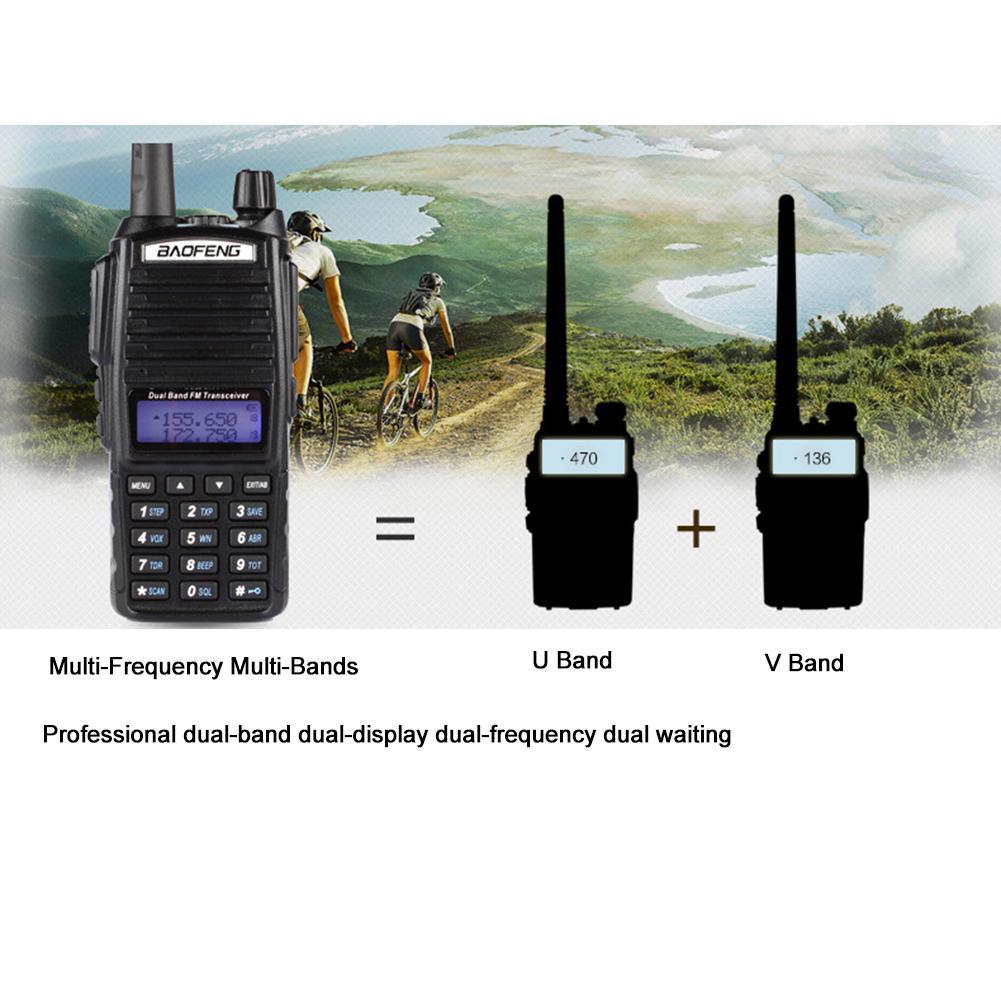 Rondaful  High Quality BF-UV82 Keyboard Handheld Walkie-Talkie Outdoor High-Power Dual-Frequency Walkie-Talkie Radio ComunicadorRondaful  High Quality BF-UV82 Keyboard Handheld Walkie-Talkie Outdoor High-Power Dual-Frequency Walkie-Talkie Radio Comunicador