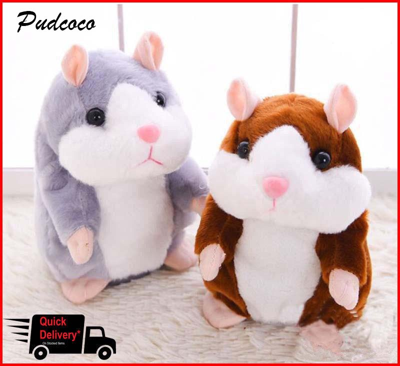 Cheeky Hamster Talking Pet Soft Toy Cute Sound 2018 Christmas Kid Gift High Quality(China)