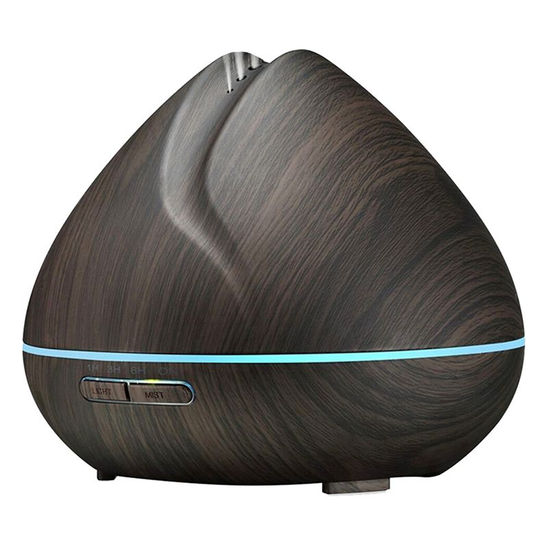 400ml Aroma ESSential Oil Diffuser Ultrasonic Air Humidifier with Wood Grain 7 Color Changing LED Lights for Office Home Bedro400ml Aroma ESSential Oil Diffuser Ultrasonic Air Humidifier with Wood Grain 7 Color Changing LED Lights for Office Home Bedro