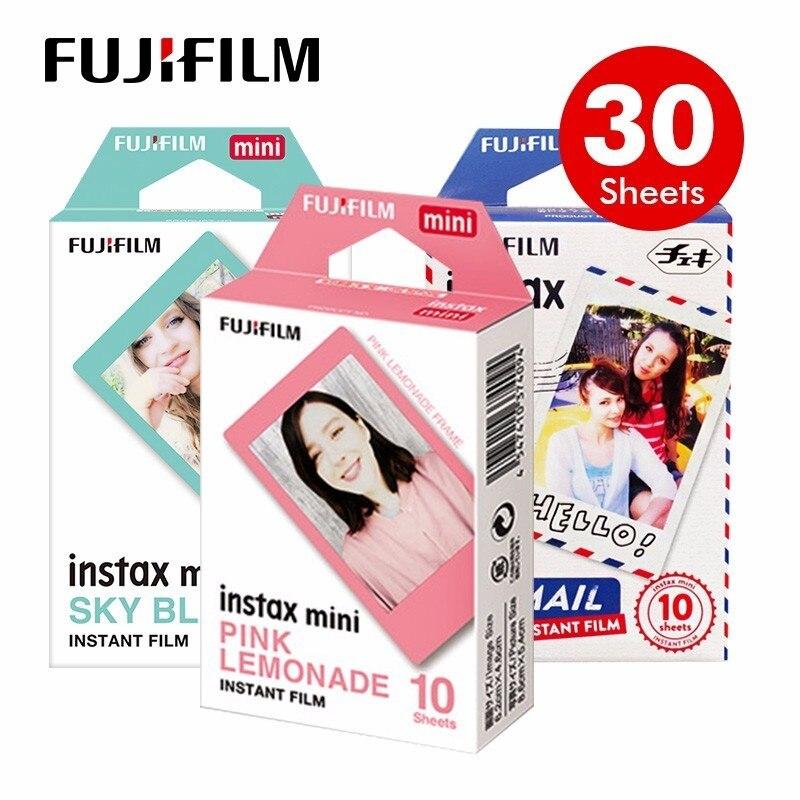 Genuine Fujifilm Fuji Instax Bianco E Nero/Amaretto/Cielo Blu Pellicola 30 pz per Mini 8 70 Plus 90 25 Camera SP-SP-2 lomo
